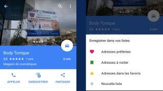 Google Maps Liste Sauvegarde